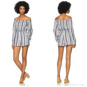 "CUPCAKES & CASHMERE Embroidered ""Amani"" Romper XS"